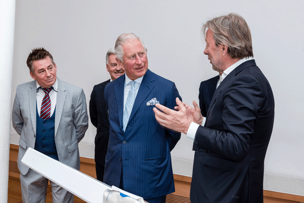 Director vom Leipzig Englisch with Prince Charles in Leipzig