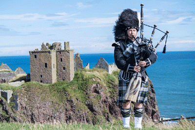 Bagpipe player Scotland