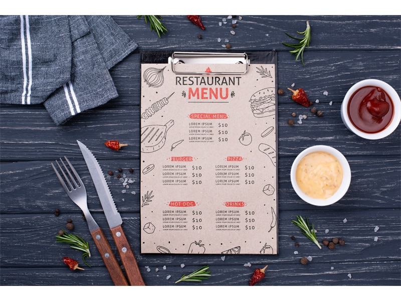 learn English, order in a restaurant