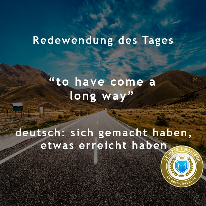 english idiom, long way