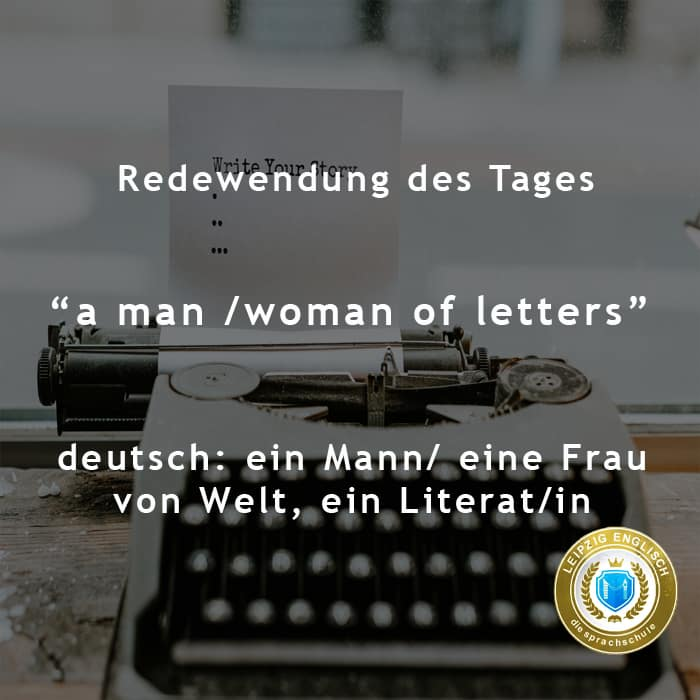 english idiom, person of letters